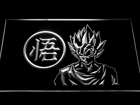 Image of Dragon Ball Z GT Super Saiyan Son Goku LED Neon Sign - White - SafeSpecial