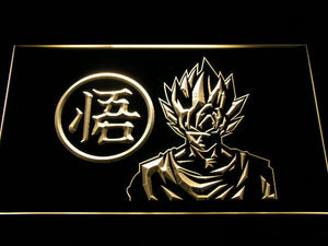 Dragon Ball Z GT Super Saiyan Son Goku LED Neon Sign - Yellow - SafeSpecial