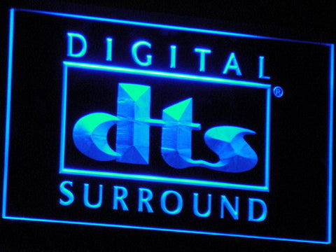 dts Digital Surround LED Neon Sign - Blue - SafeSpecial