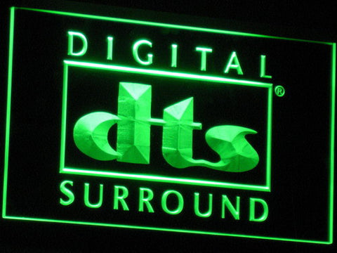 dts Digital Surround LED Neon Sign - Green - SafeSpecial