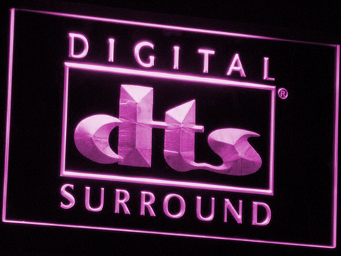 dts Digital Surround LED Neon Sign - Purple - SafeSpecial