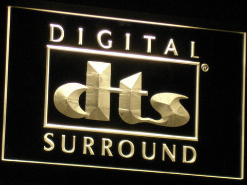 dts Digital Surround LED Neon Sign - Yellow - SafeSpecial