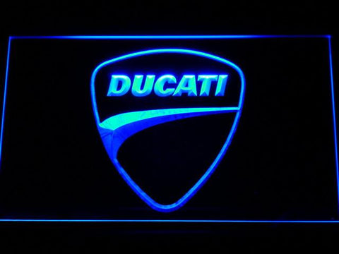 Ducati Badge LED Neon Sign - Blue - SafeSpecial
