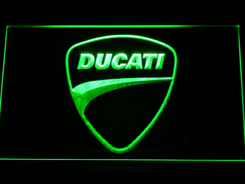 Image of Ducati Badge LED Neon Sign - Green - SafeSpecial
