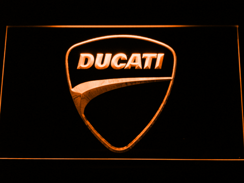 Ducati Badge LED Neon Sign - Orange - SafeSpecial