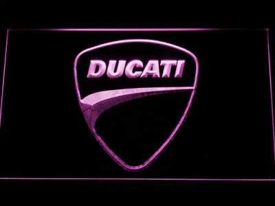 Ducati Badge LED Neon Sign - Purple - SafeSpecial