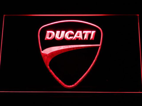 Image of Ducati Badge LED Neon Sign - Red - SafeSpecial