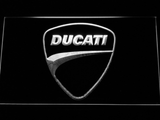 Ducati Badge LED Neon Sign - White - SafeSpecial