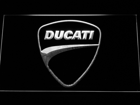 Image of Ducati Badge LED Neon Sign - White - SafeSpecial