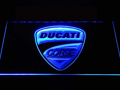 Ducati Corse LED Neon Sign - Blue - SafeSpecial