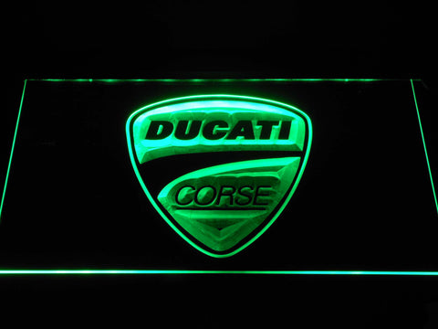 Ducati Corse LED Neon Sign - Green - SafeSpecial