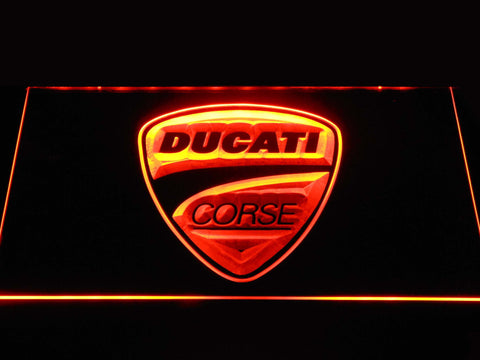 Ducati Corse LED Neon Sign - Orange - SafeSpecial