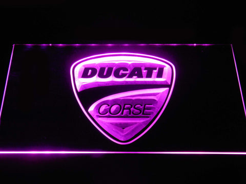 Ducati Corse LED Neon Sign - Purple - SafeSpecial