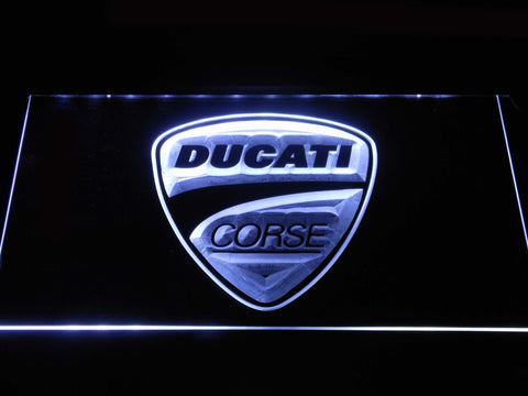 Ducati Corse LED Neon Sign - White - SafeSpecial