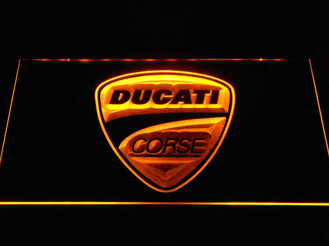 Ducati Corse LED Neon Sign - Yellow - SafeSpecial