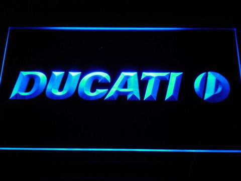 Ducati LED Neon Sign - Blue - SafeSpecial