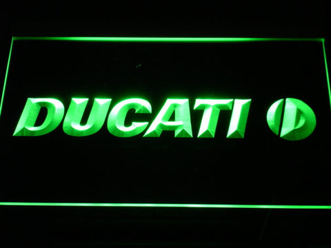 Ducati LED Neon Sign - Green - SafeSpecial