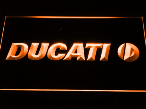 Ducati LED Neon Sign - Orange - SafeSpecial