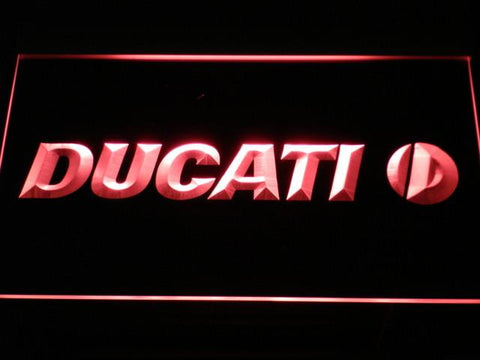 Ducati LED Neon Sign - Red - SafeSpecial