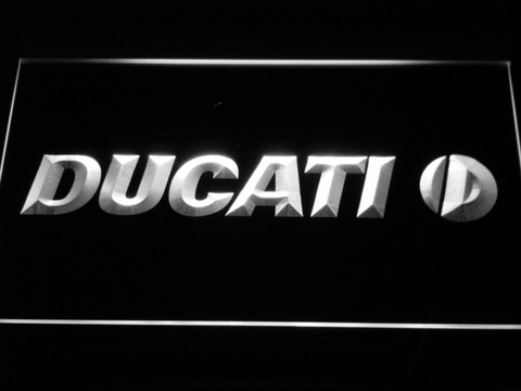 Ducati LED Neon Sign - White - SafeSpecial