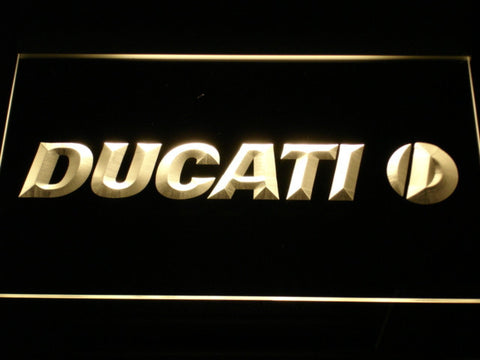 Ducati LED Neon Sign - Yellow - SafeSpecial