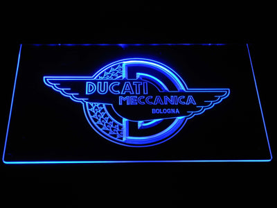 Ducati Meccanica LED Neon Sign - Blue - SafeSpecial