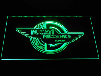 Ducati Meccanica LED Neon Sign - Green - SafeSpecial