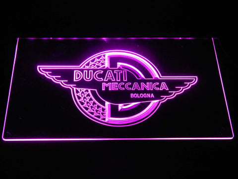 Image of Ducati Meccanica LED Neon Sign - Purple - SafeSpecial