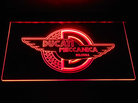 Image of Ducati Meccanica LED Neon Sign - Red - SafeSpecial