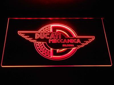 Ducati Meccanica LED Neon Sign - Red - SafeSpecial