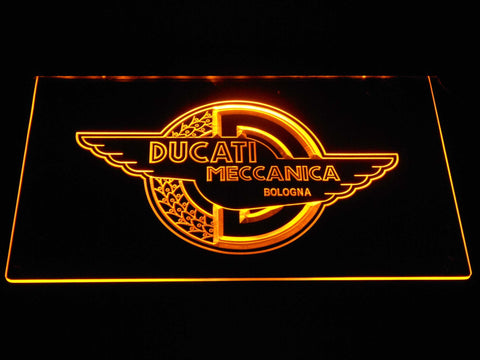 Image of Ducati Meccanica LED Neon Sign - Yellow - SafeSpecial