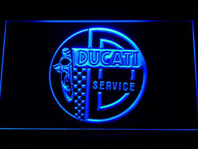 Ducati Service Center LED Neon Sign - Blue - SafeSpecial