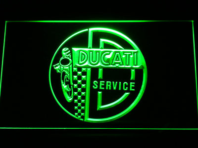 Ducati Service Center LED Neon Sign - Green - SafeSpecial