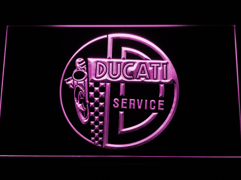 Image of Ducati Service Center LED Neon Sign - Purple - SafeSpecial