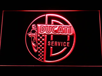 Ducati Service Center LED Neon Sign - Red - SafeSpecial