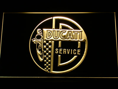 Ducati Service Center LED Neon Sign - Yellow - SafeSpecial