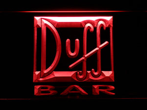 Duff Bar LED Neon Sign - Red - SafeSpecial