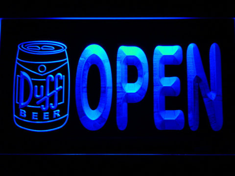 Duff Can Open LED Neon Sign - Blue - SafeSpecial