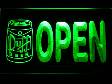 Duff Can Open LED Neon Sign - Green - SafeSpecial