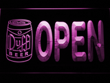 Duff Can Open LED Neon Sign - Purple - SafeSpecial