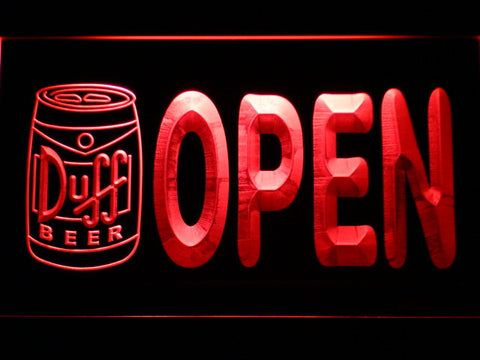 Duff Can Open LED Neon Sign - Red - SafeSpecial