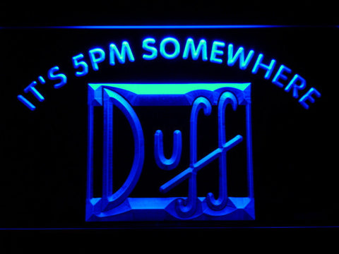 Duff It's 5pm Somewhere LED Neon Sign - Blue - SafeSpecial