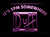 Duff It's 5pm Somewhere LED Neon Sign - Purple - SafeSpecial