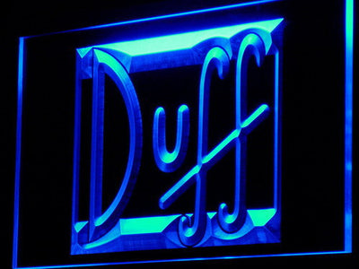 Duff LED Neon Sign - Blue - SafeSpecial
