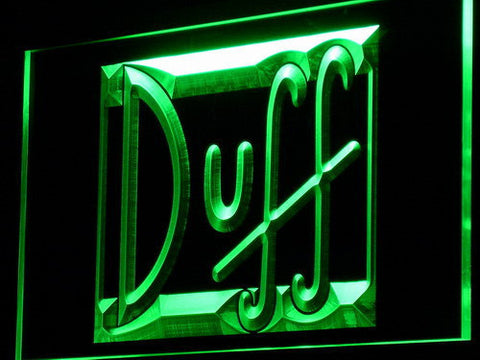 Image of Duff LED Neon Sign - Green - SafeSpecial