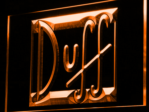 Image of Duff LED Neon Sign - Orange - SafeSpecial