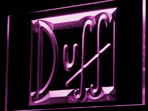 Image of Duff LED Neon Sign - Purple - SafeSpecial