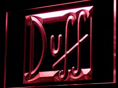 Duff LED Neon Sign - Red - SafeSpecial