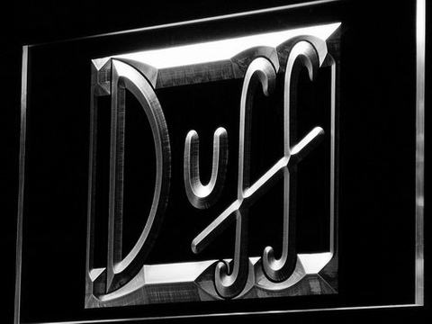 Image of Duff LED Neon Sign - White - SafeSpecial