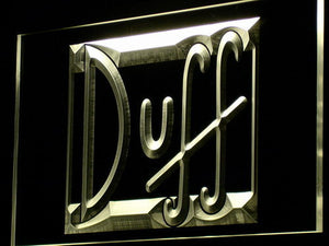 Duff LED Neon Sign - Yellow - SafeSpecial